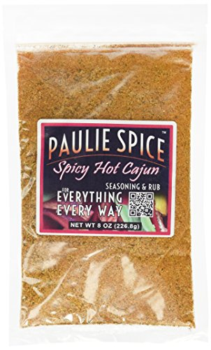 Paulie Spice : Cajun Seasoning & Rub : Spicy Hot Blend for: Steak, Meat, Chicken, Wings, Pork, Rice, Jambalaya, Gumbo, Fish, Soup, BBQ, Barbecue, Grill, Grilling, Smoker, Dry Rubs, Marinade, Spice (Spicy Chicken Wings)