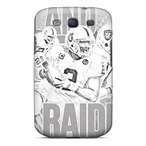 Sunrises Case Cover For Galaxy S3 - Retailer Packaging Oakland Raiders Protective Case