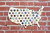 USA Beer Cap Map - Holds 50 Craft Beer Bottle Caps offers