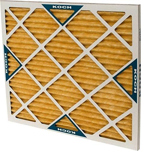 Synthetic Wire-Backed Pleated Air Filter Made in USA 20 Nom Height x 24 Nom Width x 1 Nom Depth 7 Pack