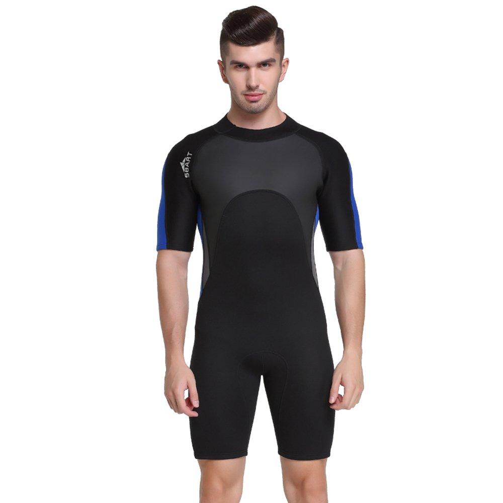 Unisex Short Sleeve 2MM Neoprene Wetsuit Men for Surfing One Piece Triathlon Scuba Diving Spearfishing Wetsuit Women Surfing (1118, L) by Shorty Wetsuit