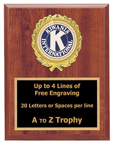 Kiwanis Plaque Awards 5x7 Wood Fraternal Trophies Club Trophy Free Engraving