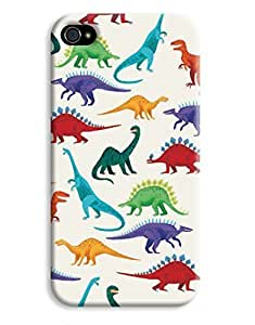 Dinosaur Colour Kids Indie Jurassic T-rex Design For Apple Iphone 5/5S Case Cover Hard