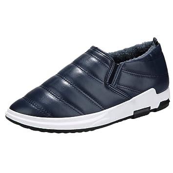 LuckyGirls Zapatos para Hombre Zapatillas de Terciopelo Botas de Nieve Casual Calzado de Planos Transpirables Informales Bambas para Perezoso Mocasines ...