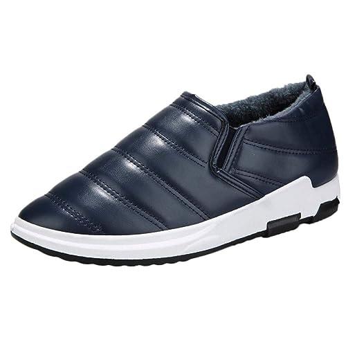 Zapatillas Hombre Deportivas Hombre Ofertas Zapatos De Terciopelo De Winter Plus para Hombre Zapatos De Algodón para El Hogar Botas para La Nieve: ...