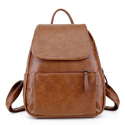 zaino Nuova moda college tracolla morbida vento borsa in Brown marrone pelle rwBSxqngrY