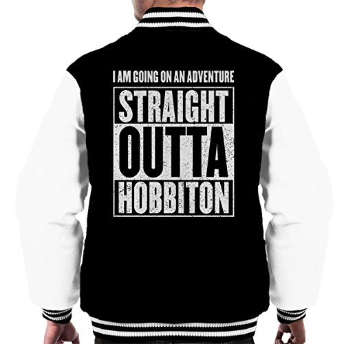 Straight Outta Black white Men's Varsity Lord The Hobbiton Of Jacket Rings nnpWx1T4Zr