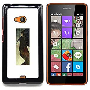 Stuss Case / Funda Carcasa protectora - Acuarela Cartel minimalista Blanca - Nokia Lumia 540