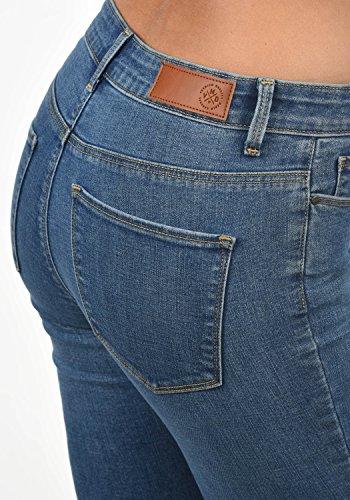 xs L32 Jeans Pantaloni Elastico Denim Vero Colore Moda rise Taglia Da Diamant Blue Donna Mid medium q7Pw1B