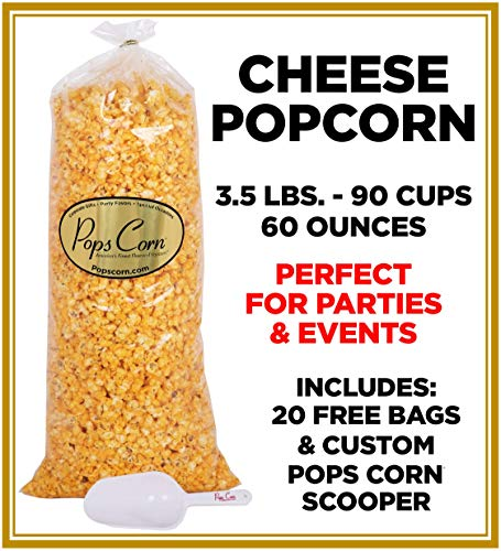 Gourmet Cheese Popcorn Bulk/Wholesale 5 Gal 90 Cups 60 Oz Free scooper. Fresh and Delicious