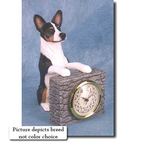 Michael Park BLACK and WHITE Basenji Mantle (Dog Mantle Clock)