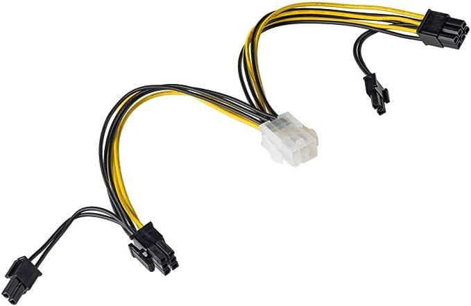 Akyga Ak Ca 55 6 Pin Stecker Auf 2x Pci E 6 2 Pin Buchse Adapter