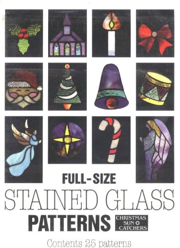 Stained Glass Patterns -- Full Size , Christmas Sun Catchers