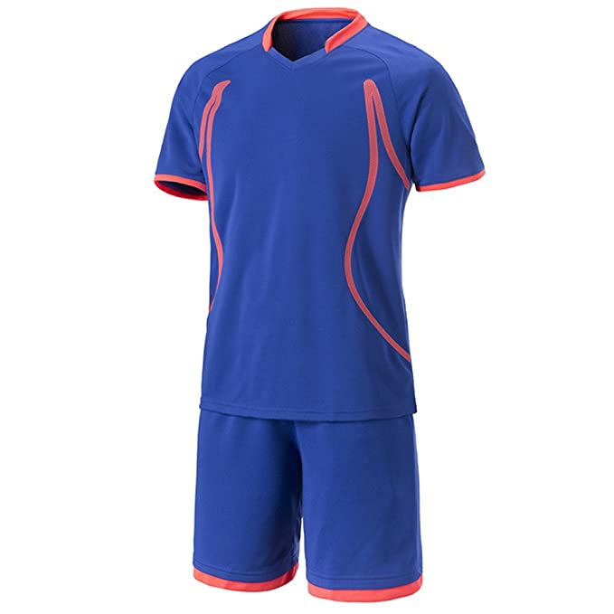 BOZEVON Fútbol Trajes Ropa de Fútbol de Deportivo Camisetas Secado Transpirable Uniformes de Equipo de Fútbol de Hombres y Mujeres Personalizados Pareja: ...