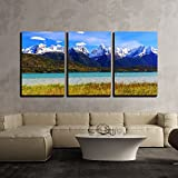 alaska painting - wall26 - 3 Piece Canvas Wall Art - Skagway, Alaska. Chilkat Peninsula, Chilkat Inlet and the Sinclair Mountain - Modern Home Decor Stretched and Framed Ready to Hang - 16