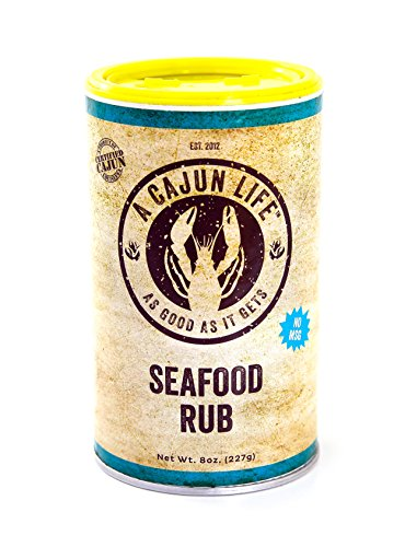 A Cajun Life Seafood Rub | Authentic Certified Cajun Seafood Seasoning Rub, Non-GMO, No MSG, Gluten Free Seafood Seasoning Mix That's Great On Everything Seafood.
