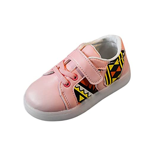 192b662f0ad2b Amazon.com: WARMSHOP Kids Shoes 1-6T Flashing Unisex Boys Girls LED ...