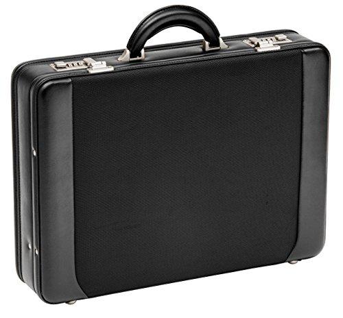 D & N Aktenkoffer Nylon PU Leder Laptop Business Koffer 46x34x11cm Schwarz 2622 Bowatex