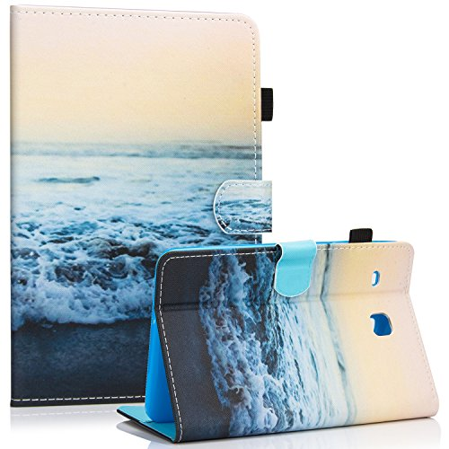 Galaxy Tab E 8.0 Case, Samsung SM-T377a Case, Dteck PU Leather Flip Stand Case [Card Holder] Wallet Case Cover for Samsung Galaxy Tab E T377 8.0 Inch Lite Series Tablet-Peace
