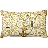 UOOPOO Gustav Klimt The Tree Of Life Vintage Art Nouveau Lumbar Throw Pillow Case Square 12 x 18 Inches Soft Cotton…