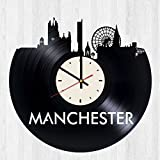 Manchester Vinyl Wall Clock United Kingdom's Unique Gifts Living Room Home Decor