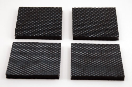 Isolate It: Sorbothane Vibration Isolation Reinforced Heavy Duty Square Pad 50 Duro (2.5'' x 2.5'' x 1/4'' Thick) - 4 Pack by Isolate It! (Image #3)