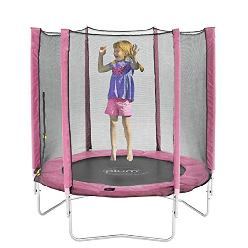 Plum 6ft Trampoline and Enclosure Kids Trampoline Pink by Plum
