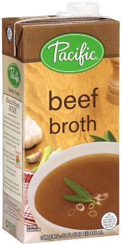 Pacific Foods Natural Beef Broth, 32-Ounce Cartons, 12-Pack