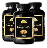 Blood pressure pills for women - OMEGA 8060 (FISH OIL) - Omega 6 mood - 3 Bottle 180 Softgels