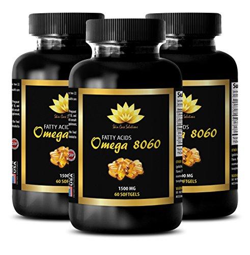 Blood pressure pills for women - OMEGA 8060 (FISH OIL) - Omega 6 mood - 3 Bottle 180 Softgels by SKIN CARE SOLUTIONS