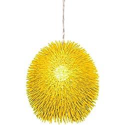 Varaluz 169P01YE Urchin 1-Light Pendant - Un-Mellow Yellow Finish