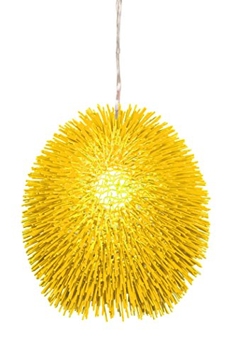 - Varaluz 169P01YE Urchin 1-Light Pendant - Un-Mellow Yellow Finish
