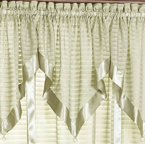 H.c. International, Inc. Nimbus Stripe Ascot Valance 40 x 25 ()