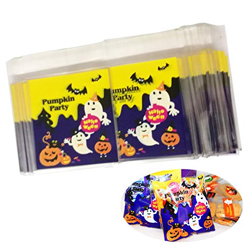 Halloween Resealable Cellophane Cookie Bakery Candy Treat Plastic Gift Bags,100 -