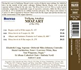 Mozart: Missa Brevis in D major K. 194, Missa Brevis in B flat major K. 275, Regina coeli K. 127, Allegro and Andante (Fantasia) in F minor K. 608