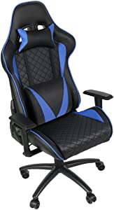 Gaming Chair Racing Style, Ergonomic Computer Chair, 500LB, High Back PU Leather, Height, Back Angle, Armrest Adjustable with Headrest Lumbar Support, Shipping time 2-7 Days