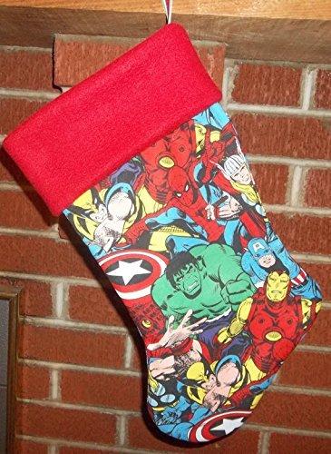 Amazon.com: Boys Christmas Stocking superhero Stocking: Handmade