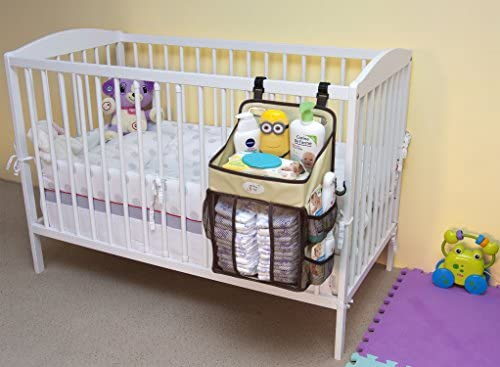 Baby Diaper Stacker /& Changing Table Organizer Hard Plastic Body Prevent from Sagging Diaper Holder and Nursery Storage for Baby Boys and Girls Hanging Caddy for Newborns fit Every Crib