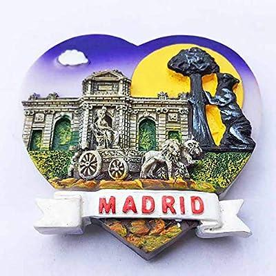 Madrid España 3D Imán de refrigerador en Forma de corazón ...