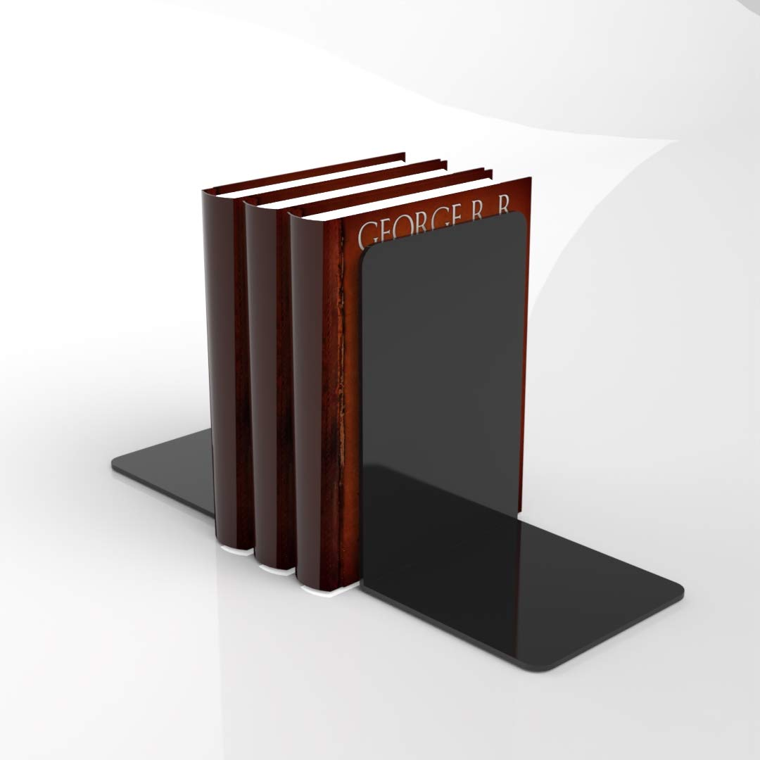 Plexico Gloss Black Acrylic Bookends//Bookends Organiser Stand//Office//School//Book Small 10cm x10cm x10cm