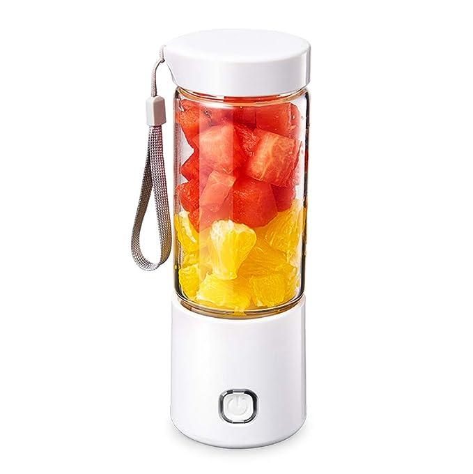 A Mini Licuadora Batidora portátil de Frutas con Vaso de Vidrio de ...