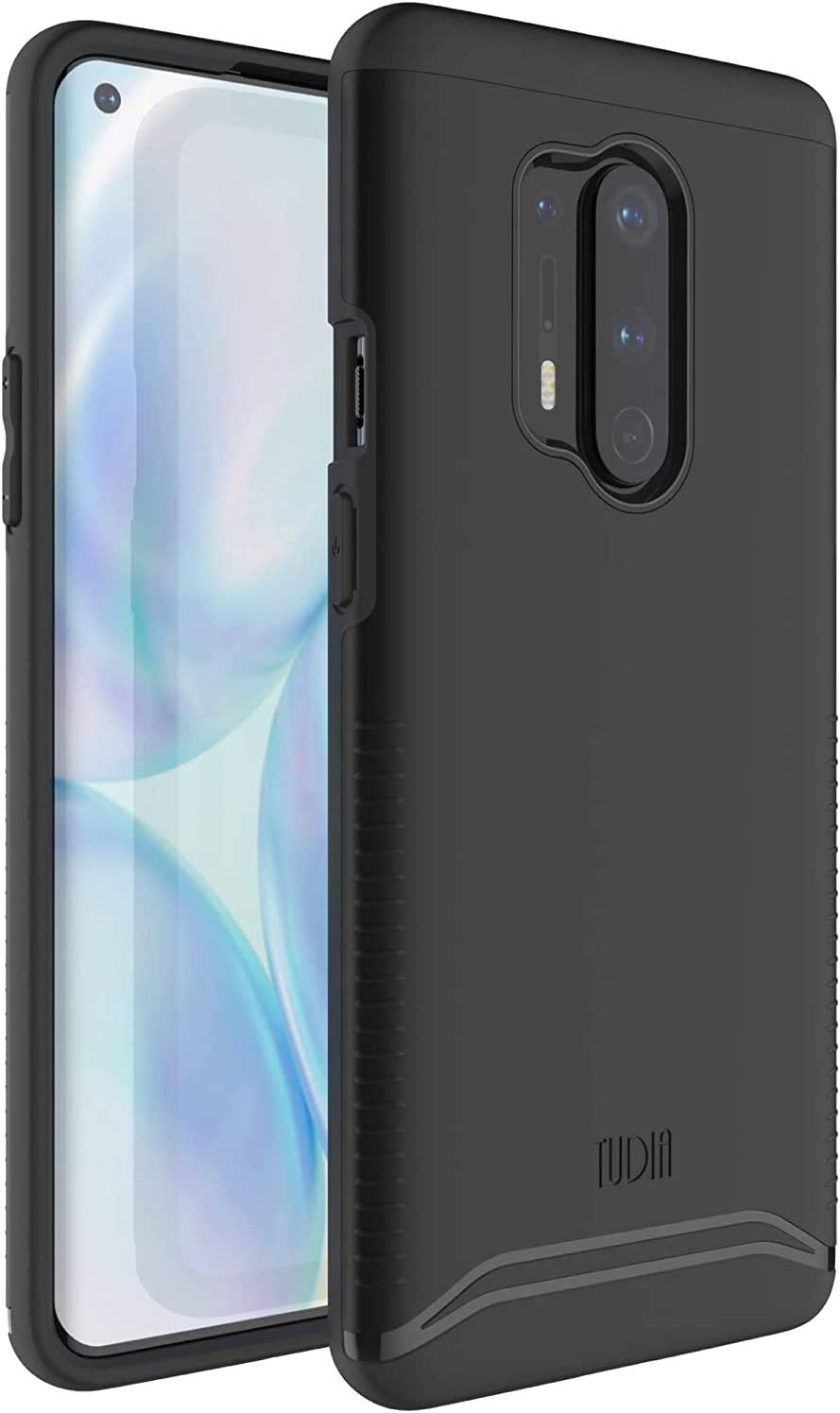 TUDIA Merge Designed for OnePlus 8 Pro Case, Dual Layer Phone Case Cover for OnePlus 8 Pro (Matte Black)