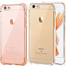2Pack Impact Resistant clear Cover iPhone 6 6s Card Case,ibarbe Protective Shell Shockproof Heavy Duty TPU Bumper Case Anti-scratches EXTREME Protection Cover Heavy Duty Case for iPhone 6 6S 4.7""
