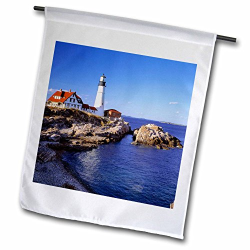 3dRose fl_90758_1 Maine Portland Head Lighthouse US20 Rer0011 Ric Ergenbright Garden Flag, 12 by - In Portland Maine Singles
