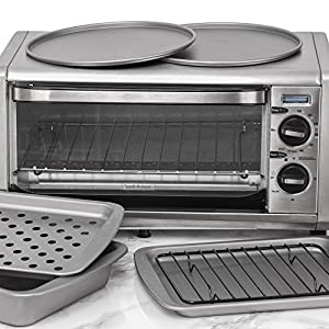 OvenStuff Non-Stick 6-Piece Toaster Oven Baking Pan Set – Non-Stick Baking Pans, Easy to Clean and Perfect for Single Servings P