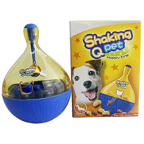 Tunnel Iq Bag (VT BigHome Funny Pet Cat Dog Toy Tumbler Leakage Feeder Food Container Anti-depression Pets IQ Training Ball Toys For Dogs Cats)