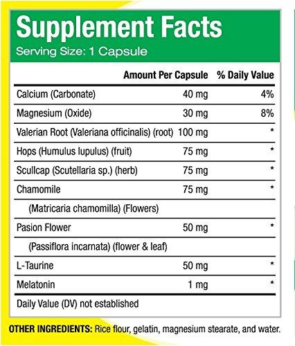 Contienen: Valeriana, Manzanilla, Calcio, Magnesio, Melatonín y Pasiflora.: Health & Personal Care