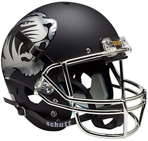 NCAA Missouri Tigers Chrome Replica Helmet, One Size, White by Schutt