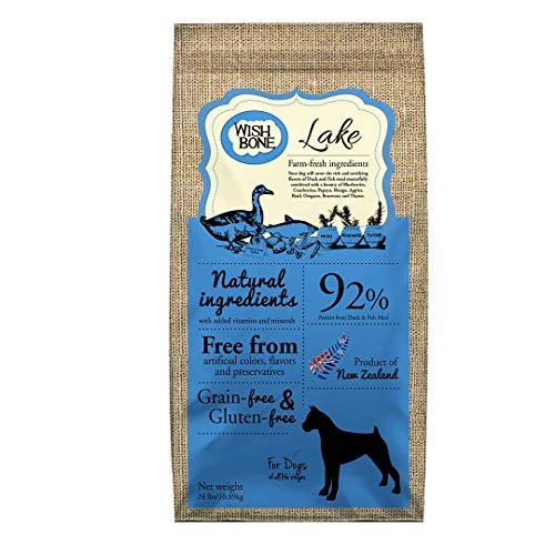 Wishbone Dry Dog Food - Lake - Grain Free New Zealand Duck, All Life Stages - 24 lb.