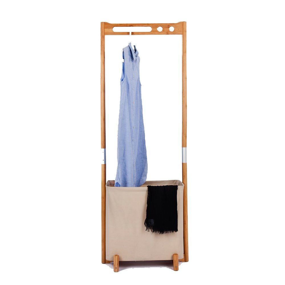 ZEN S BAMBOO Portable Clothes Racks Assemble Multi Function Clothes Hanger Rack Stand Clothes Storage Organizer